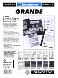 GRANDE -  FEUILLE DE CLASSEMENT CLAIRE, 3 BANDES VERTICALES, PAQUET DE 5
