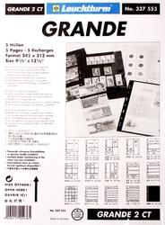GRANDE -  FEUILLE DE CLASSEMENT CLAIRE, 4 CASSES, PAQUET DE 5 FEUILLES