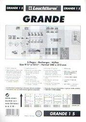 GRANDE -  FEUILLE DE CLASSEMENT NOIRE, 1 BANDE, PAQUET DE 5 FEUILLES