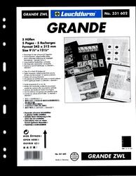 GRANDE -  INTERCALAIRES NOIRS POUR FEUILLES DE CLASSEMENT GRANDE (PAQUET DE 5)