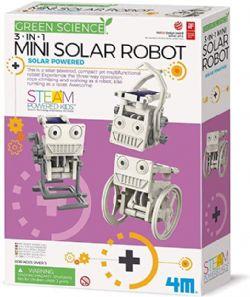 GREEN SCIENCE -  MINI ROBOT SOLAIRE 3-EN-1 (FRANÇAIS)