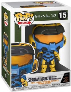 HALO -  FIGURINE POP! EN VINYLE DE SPARTAN MARK VII AVEC VK78 COMMANDO RIFLE (GAME ADD-ON) (10 CM) 15