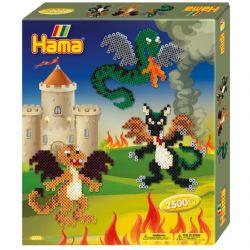 HAMA BEADS -  DRAGONS (2500 PIECES)