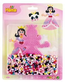 HAMA BEADS -  GRAND KIT DE PERLES (1100 PIECES) - PRINCESSE 4210