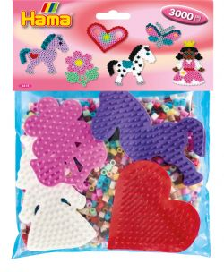 HAMA BEADS -  PACK A (3000 PIECES)