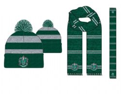 HARRY POTTER -  COMBO TUQUE/FOULARD - VERT/GRIS -  SERPENTARD