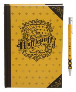 HARRY POTTER -  POUFSOUFFLE - ENSEMBLE CARNET JAUNE & STYLO