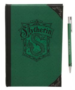 HARRY POTTER -  SERPENTARD - ENSEMBLE CARNET VERT & STYLO