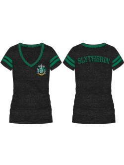 HARRY POTTER -  T-SHIRT DE SIGLE SERPENTARD - NOIR (FEMME)