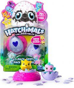 HATCHIMALS -  PACK DE 2 + NID (ANGLAIS)