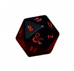 HEAVY DICE -  2D20 METAL NOIR/ROUGE