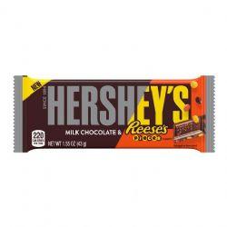 HERSHEY'S -  CHOCOLAT AU LAIT ET MORCEAUX DE REESE'S (43 G)