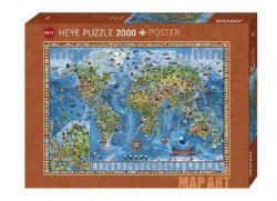 HEYE -  AMAZING WORLD (2000 PIECES) -  MAP ART