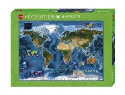 HEYE -  SATELLITE MAP (2000 PIECES) -  MAP ART