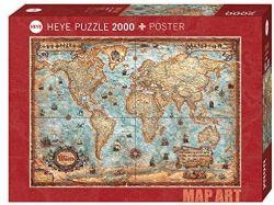 HEYE -  THE WORLD (2000 PIÈCES) -  MAP ART