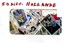 HOLLANDE (PAYS-BAS) -  50 DIFFÉRENTS TIMBRES - HOLLANDE (PAYS-BAS)