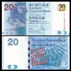 HONG KONG -  20 DOLLARS 2016 (UNC) - STANDARD CHARTERED BANK