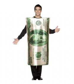 HUMORISTIQUE -  COSTUME DE BILLET DE 100 DOLLARS (ADULTE - TAILLE UNIQUE)