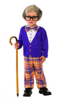 HUMORISTIQUE -  COSTUME DE PETIT VIEUX (ENFANT)
