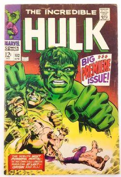 INCREDIBLE HULK -  INCREDIBLE HULK (1968) - VERY GOOD/FINE - 5.0 102