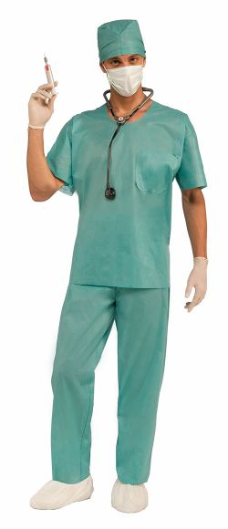 INFIRMIÈRES ET DOCTEURS -  COSTUME DE DOCTEUR URGENTISTE (ADULTE - TAILLE UNIQUE)