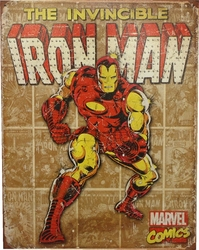 IRON MAN -  AFFICHE MÉTALLIQUE