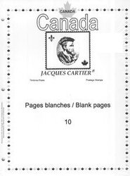 JACQUES CARTIER -  PAGES BLANCHES (PAQUET DE 10)