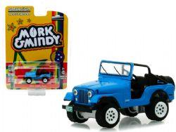 JEEP -  MORK & MINDY 1972 JEEP CJ-5 1/64 - BLEU -  HOLLYWOOD SERIES 23
