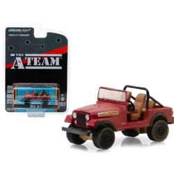 JEEP -  THE A TEAM JEEP CJ-7 1/64 - ROUGE -  HOLLYWOOD SERIES 24