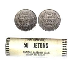JETONS -  ROULEAU ORIGINAL DE JETONS CONSEIL DES PORTS NATIONAUX PONT CHAMPLAIN