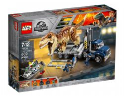 JURASSIC WORLD -  LE TRANSPORT DU TYRANNOSAURE (609 PIÈCES) 75933