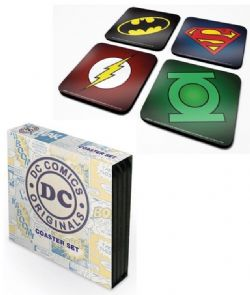 JUSTICE LEAGUE -  ENSEMBLE DE 4 SOUS-VERRES