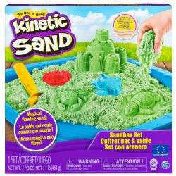 KINETIC SAND -  COFFRET BAC À SABLE VERT