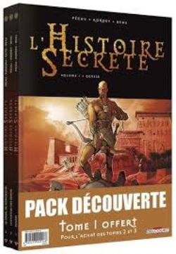 L'HISTOIRE SECRÈTE -  PACK DÉCOUVERTE TOME 1 À 3