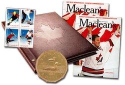L'OR DES ÉTOILES - ENSEMBLE TIMBRES ET MONNAIE -  PIÈCES DU CANADA 2002