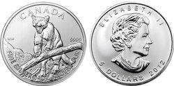 LA FAUNE CANADIENNE -  LE COUGUAR - PIÈCE D'UNE ONCE EN ARGENT PUR -  PIÈCES DU CANADA 2012 03