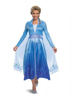 LA REINE DES NEIGES 2 -  COSTUME D'ELSA DE LUXE (ADULTE) -  PRINCESSES DISNEY