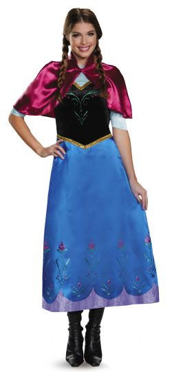 LA REINE DES NEIGES -  COSTUME DE LUXE D'ANNA (ADULTE) -  PRINCESSES DISNEY