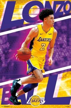 LAKERS DE LOS ANGELES -  AFFICHE DE LONZO BALL #2 (56 X 86.5 CM)