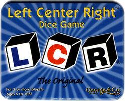 LCR -  JEU DE DÉS L-C-R ORIGINAL