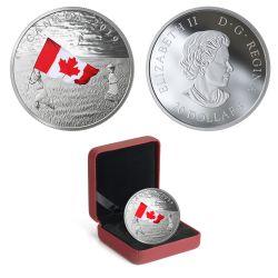 LE DRAPEAU CANADIEN -  PIÈCES DU CANADA 2019
