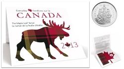 LE TARTAN DE LA FEUILLE D'ÉRABLE -  PIÈCES DU CANADA 2013