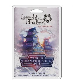 LEGEND OF THE FIVE RINGS : THE CARD GAME -  WINTER COURT 2018 WORLD CHAMPIONSHIPS DECK (ANGLAIS)
