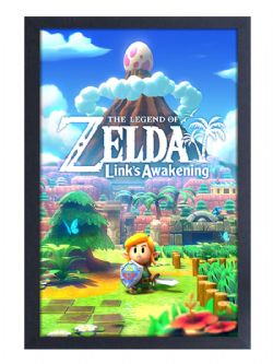 LEGEND OF ZELDA, THE -  IMAGE ENCADRÉE LINK'S AWAKENING (33 CM X 48 CM)