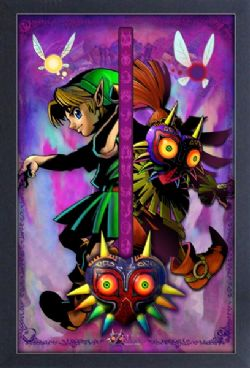 LEGEND OF ZELDA, THE -  IMAGE ENCADRÉE - MAJORA SPLIT (33 X 48 CM) -  MAJORA MASK