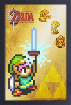 LEGEND OF ZELDA, THE -  IMAGE ENCADRÉE - MASTER SWORD (33 X 48 CM) -  A LINK TO THE PAST