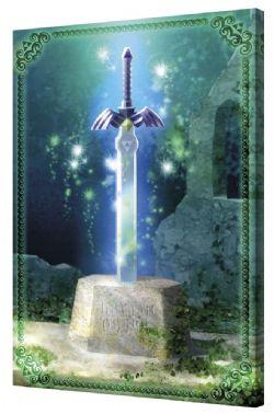 LEGEND OF ZELDA, THE -  IMPRESSION SUR TOILE MASTER SWORD (60CM X 90CM)