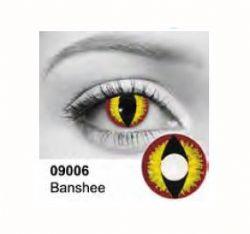 LENTILLES CORNÉENNES THÉÂTRALES -  BANSHEE - ROSE/JAUNE (90 JOURS) 09.006