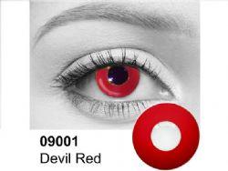 LENTILLES CORNÉENNES THÉÂTRALES -  RED OUT / DEVIL RED - ROUGE VIF (90 JOURS) 09.001