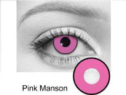 LENTILLES CORNEENNES THEATRALES -  PINK MANSON - ROSE (90 JOURS)